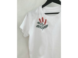 Embrodary t shirt with your own design any logos