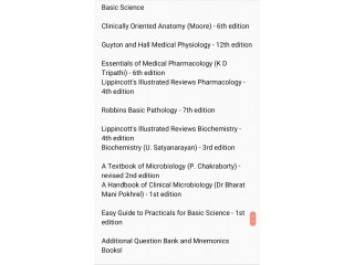 Medical Textbooks (Basic Science + Clinicals Major And Minor)