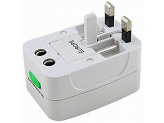 All-In-One International Travel Plug Adapter, Universal Worldwide Travel Adaptor in USA EU UK AUS – Great for the iPhone/Smartphones/Laptops etc