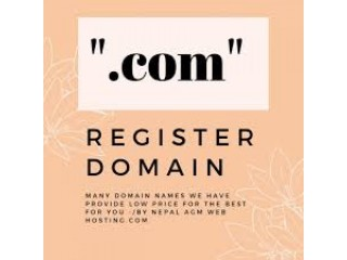 Buy .Com Domain @NPR.899/year only on AGM Web Hosting