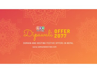 DIPAWALI OFFER: Buy .COM Domain at Just NPR.978 | AGM Web Hosting