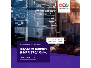 OFFERS: Buy .COM Domain at Just NPR.978 | AGM Web Hosting