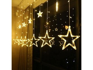 Star lights With 12 star ornaments