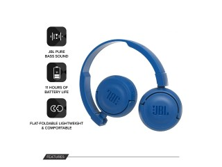 JBL T450BT Extra Bass Wireless On-Ear Headphones with Mic