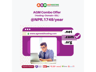 AGM GRAND SALE  Combo Hosting Offer at just NPR.1749/year  in Nepal | AGM Web Hosting
