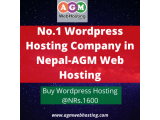 Best  WordPress Web Hosting NPR 1600/year in Nepal - AGM Web Hosting