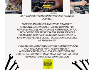 Fridge , Ac Training In Kathmandu Nepal | Kathmandu Technician
