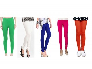 5 pice combo Cotton Stretcheble Leggings Women And Girls