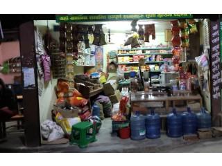 लैनचौर नजिकै कपुरधारामा चलिरहेको किराना पसल सुलभ मुल्यमा बिक्रीमा
