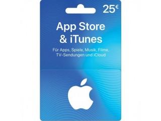 App Store & iTunes Card ($25, $50, $100)